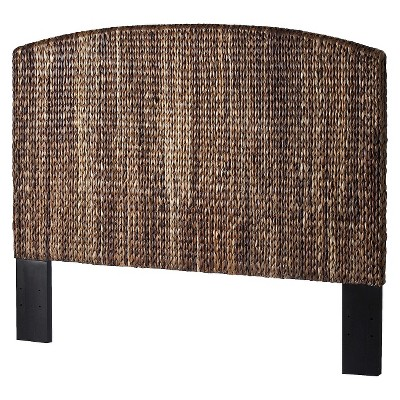 Andres Seagrass Queen Headboard - Espresso