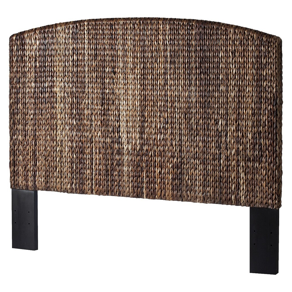 Andres Seagrass King Headboard - Espresso, Brown