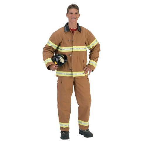 Fire Fighter Helmet Adult Tan - image 1 of 1