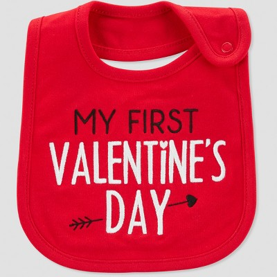 Baby My First Valentines Bib - Just One You® made by carter's Red One Size