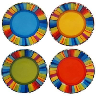 """8.8"""" 4pk Earthenware Sierra Salad Plates - Certified International"""