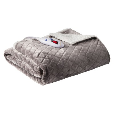 ab65c3c2602 Velour With Sherpa Electric Throw - Biddeford Blankets   Target