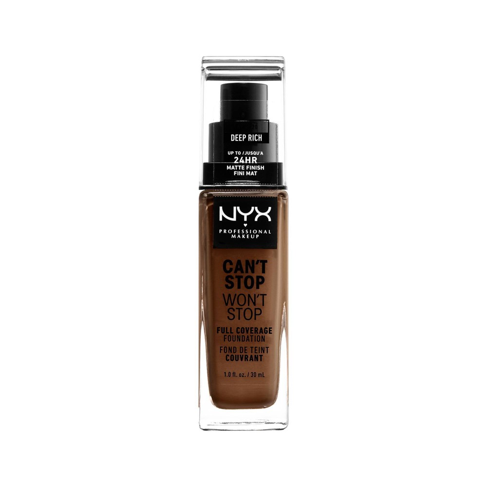 Image of NYX Professional Makeup Can't Stop Won't Stop Full Coverage Foundation Deep Rich - 1.3 fl oz
