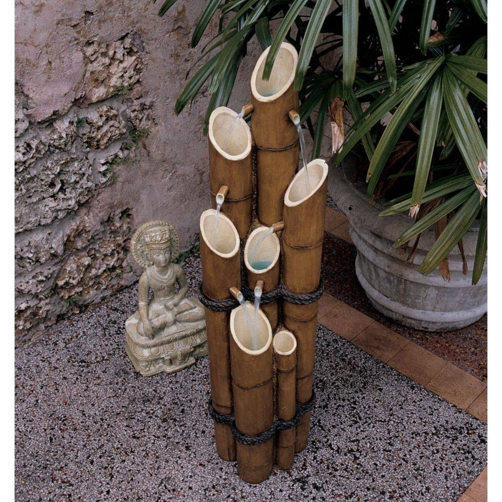 Image of Cascading Bamboo Sculptural Fountain - Acorn Hollow