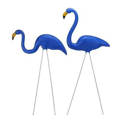"Northlight 2ct Tropical Flamingo Outdoor Garden Lawn Stakes 30"" - Blue"