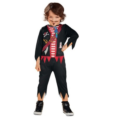 Northlight Red and Black Pirate Toddler Halloween Costume - Small
