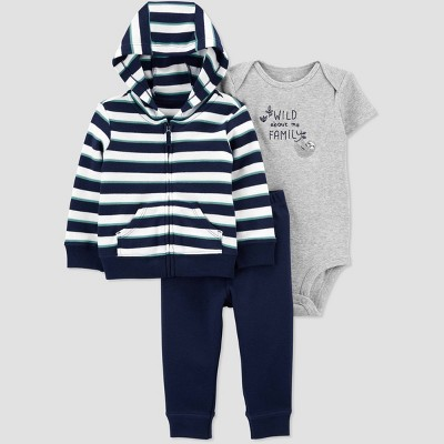 Baby Boys' Sloth Striped Top & Bottom Set - Just One You® made by carter's Blue 6M