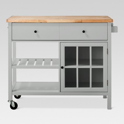 Windham Wood Top Kitchen Island - Gray - Threshold™