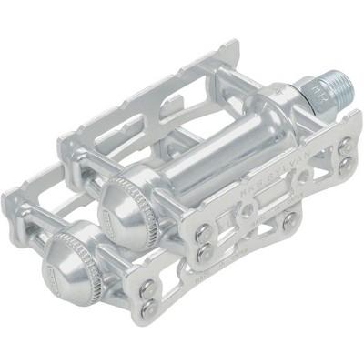 "MKS Sylvan Track Pedals 9//16/""Toe Clip Compatible Alloy Silver"