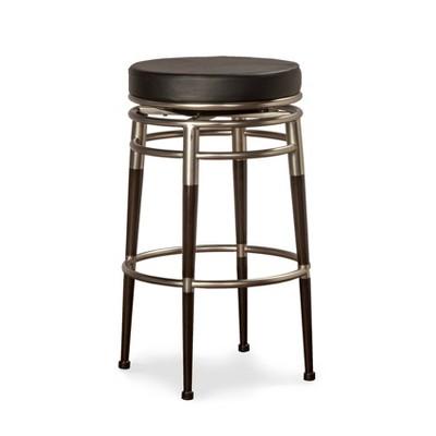 "26"" Salem Swivel Counter Height Barstool Metal/Chrome - Hillsdale Furniture"