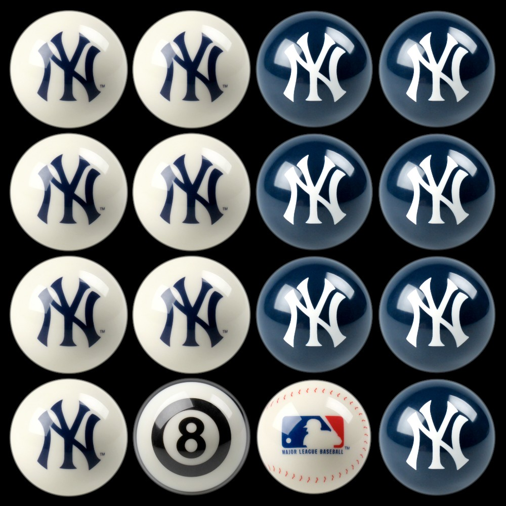 New York Yankees Imperial Home vs. Away Billiards Ball Set