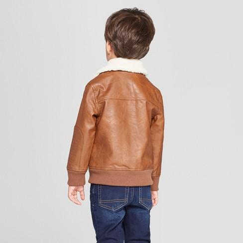 f0d5b062 Genuine Kids® from OshKosh Toddler Boys' Aviator Bomber Jacket - Brown
