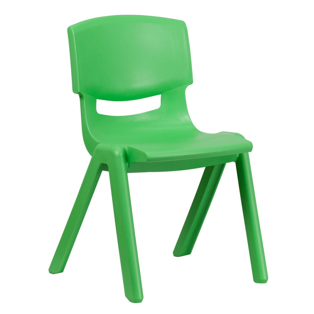 Image of Large Stacking Student Chair - Green - Belnick, Adult Unisex