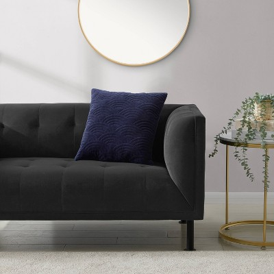Louise Quilted Velvet Decorative Throw Pillow - Refinery29