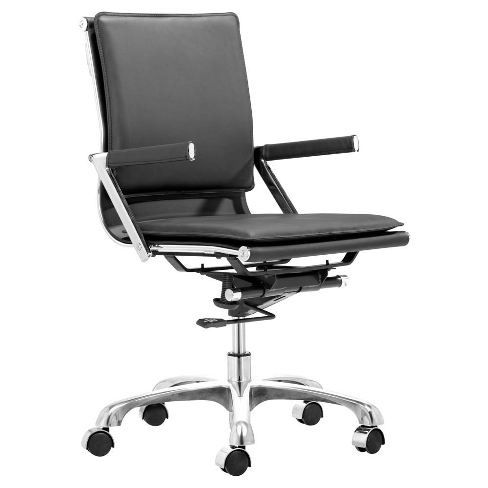 Ergonomic Upholstered Office Chair - Black - ZM Home