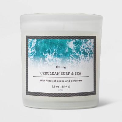 5.5oz Glass Jar Cerulean Surf and Sea Candle - Threshold™