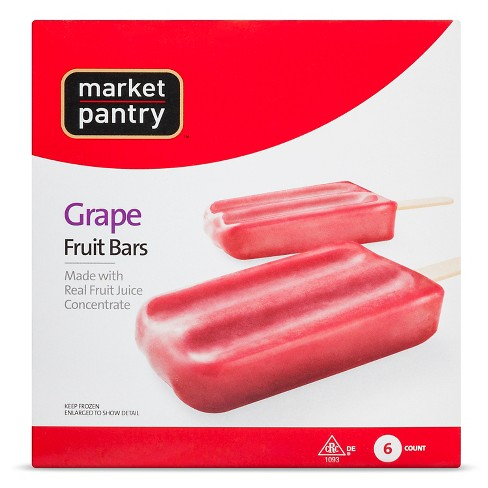Grape Fruit Frozen Bar 6ct - Market Pantry™ - image 1 of 1
