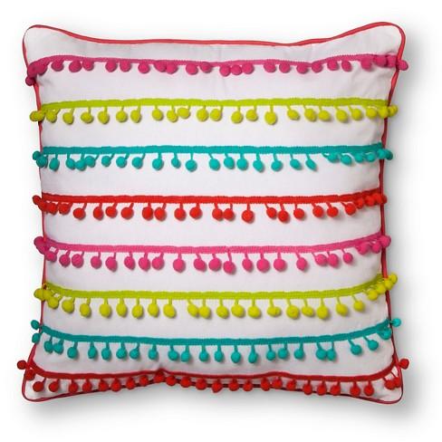 """Pom Pom Throw Pillow 18""""X18"""" - Pillowfort™ - image 1 of 2"""