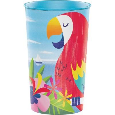 22oz 8ct Lush Luau Disposable Plastic Cups