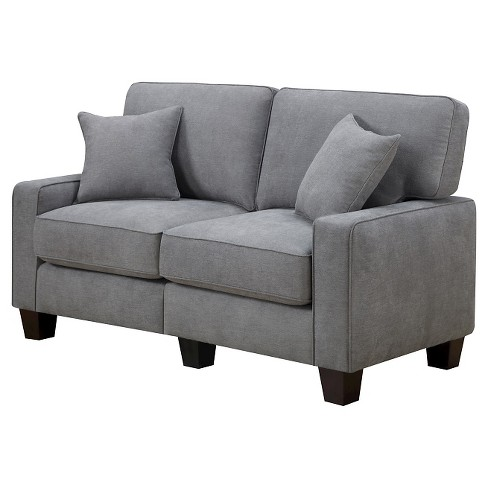 "Serta® RTA Palisades Collection 61"" Loveseat in Glacial Gray, CR45232B - image 1 of 8"