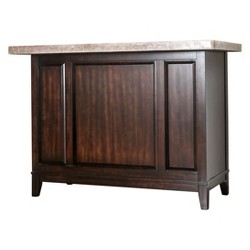 Iohomes Kennison Transitional Marble Top Bar Table Espresso - HOMES: Inside + Out