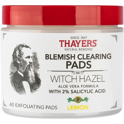 Thayers Natural Remedies Witch Hazel Blemish Pads - 60ct