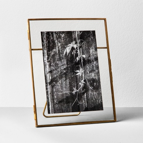 5 X 7pressed Glass Photo Frame Brass Hearth Hand With