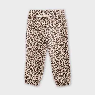 Grayson Mini Toddler Girls' Leopard Print Jogger Pants - Tan
