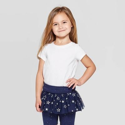 Toddler Girls' Solid Short Sleeve T-Shirt - Cat & Jack™ White 2T