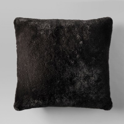 Faux Fur Oversized Throw Pillow - Black - Project 62™