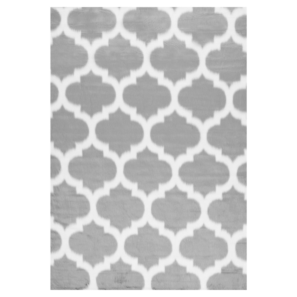 "Image of ""2'6""""x8' Solid Loomed Runner Gray - nuLOOM"""
