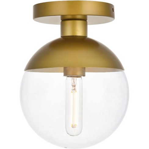 "Elegant Lighting LD6055 Eclipse Single Light 8"" Wide Semi-Flush Globe Ceiling Fixture - image 1 of 3"