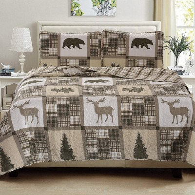 Great Bay Home Stonehurst Lodge Reversible Quilt Set
