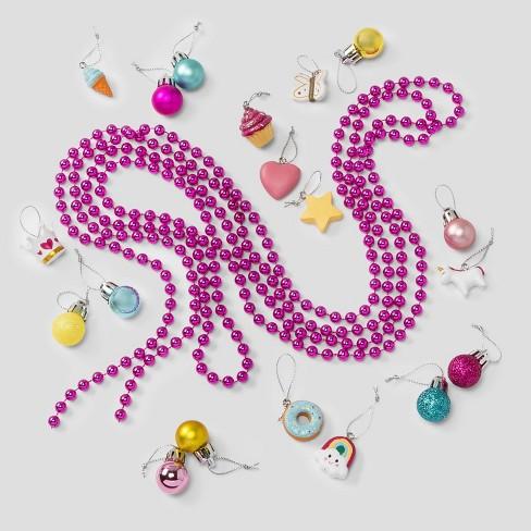 30pc Rainbow Resin Shatter-Resistant Christmas Ornament Set - Wondershop™ - image 1 of 2
