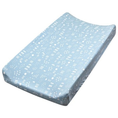 Honest Baby Organic Cotton Changing Pad Cover - Pattern Play Teal