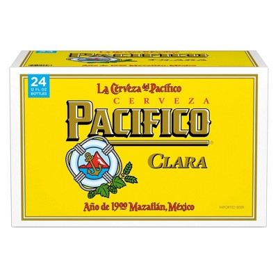 Pacifico Clara Mexican Lager Beer - 24pk/12 fl oz Bottles