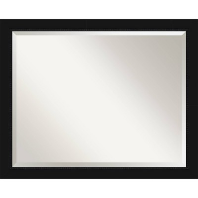 Avon Framed Bathroom Vanity Wall Mirror Black - Amanti Art