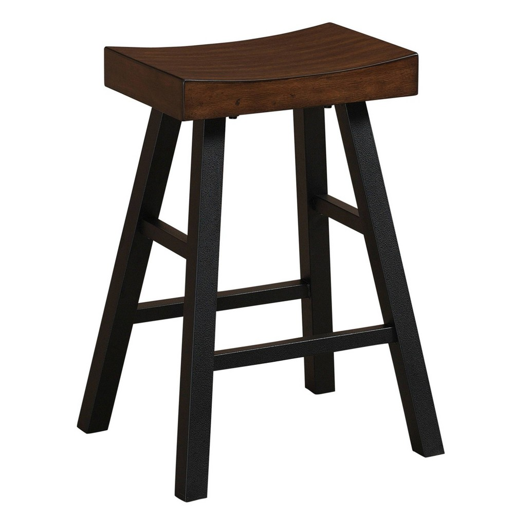 "Image of ""26"""" Atterbury Stool Sable Wood Seat Graphite Gray - American Heritage Billiards"""