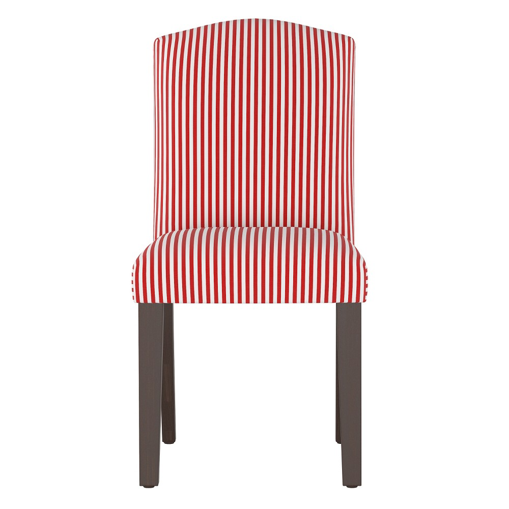 Lucy Camel Back Dining Chair Red Stripe - Cloth & Co.