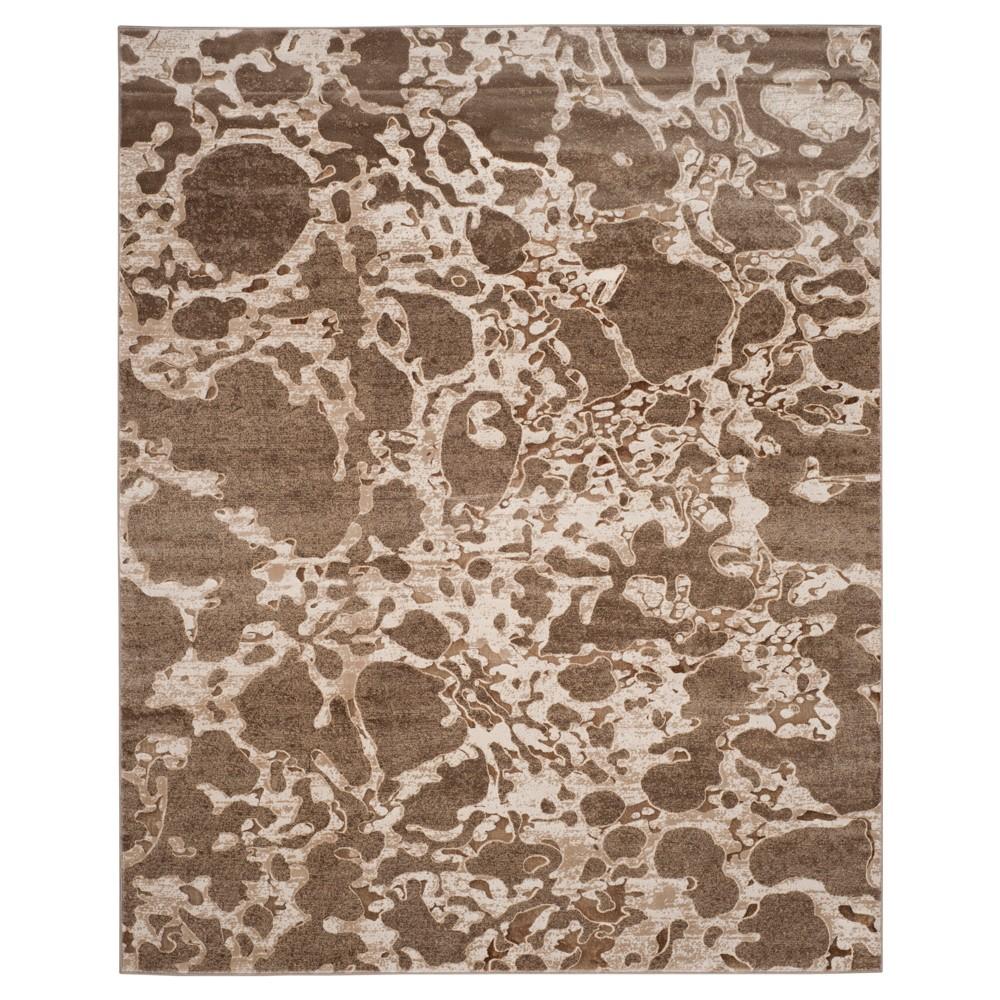 Light Brown Splatter Loomed Area Rug 8'X10' - Safavieh