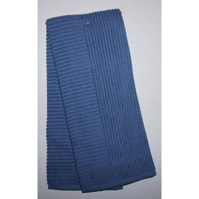 2pk Cotton Solid Ribbed Terry Kitchen Towels Blue - Project 62™