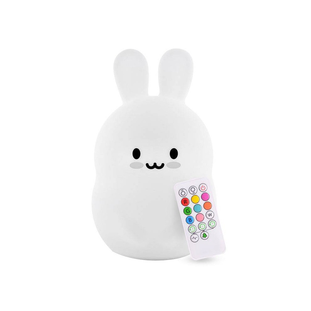 Image of Lumipets LED Kids Night Light Lamp with Remote - Bunny