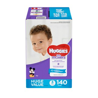 Huggies Little Movers Diapers Huge Pack - Size 3 (140ct )