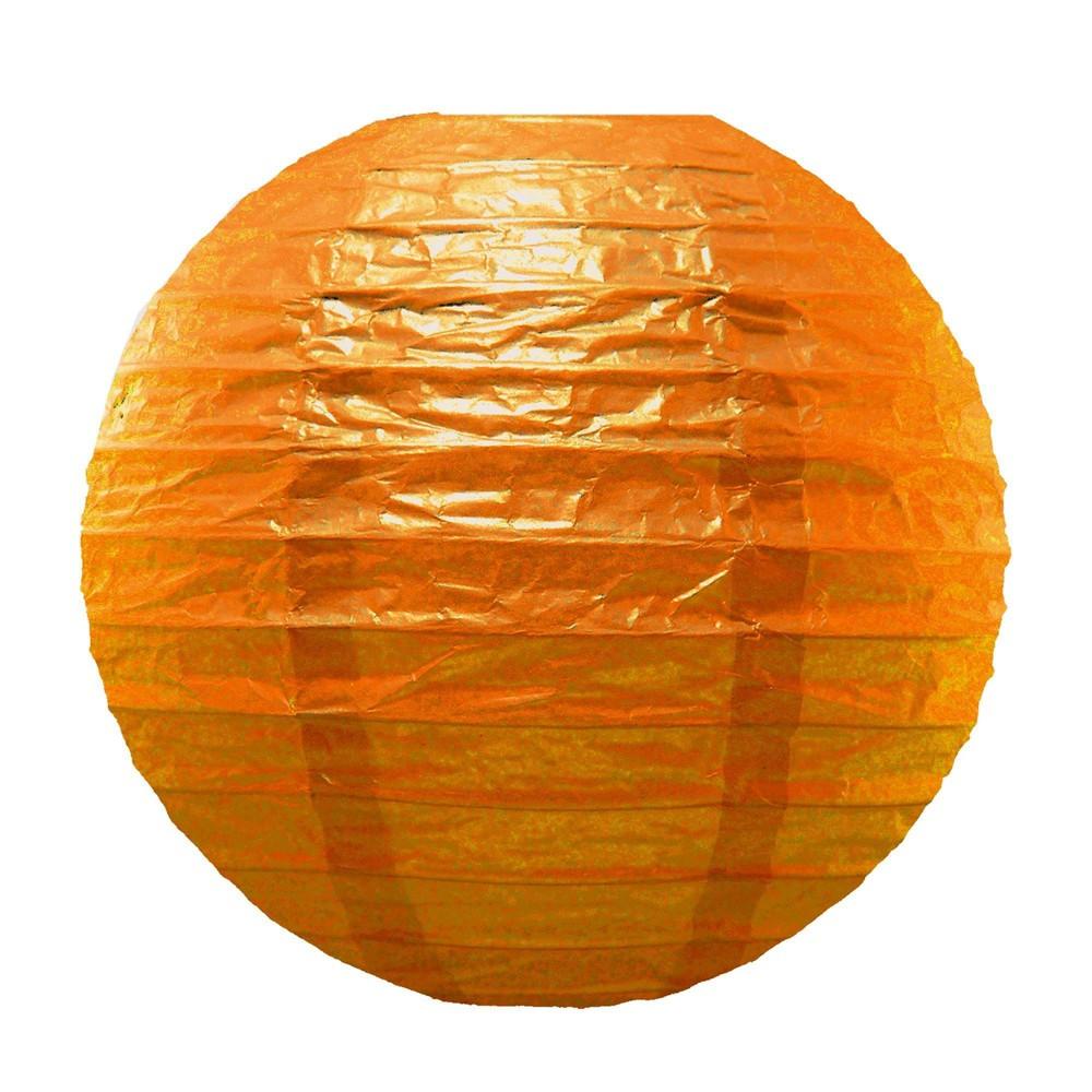 5ct Lumabase Orange Round Paper Lanterns 10, Multi-Colored