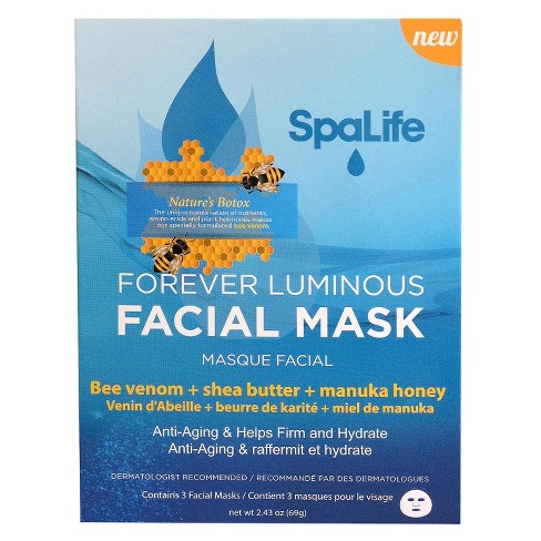 SpaLife Forever Luminous Facial Mask - 3 pack - image 1 of 3