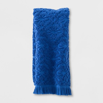 Soft Jacquard Accent Hand Towel Bright Blue - Opalhouse™