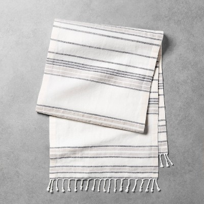 Striped Oversized Table Runner Sour Cream / Gray - Hearth & Hand™ with Magnolia