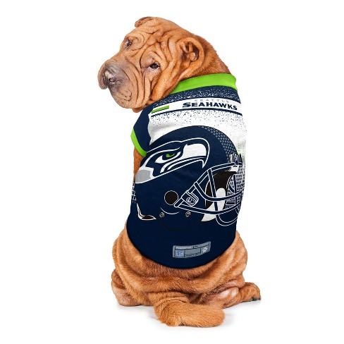 Seattle Seahawks Little Earth Pet Performance Football T-Shirt ... 35db21b01