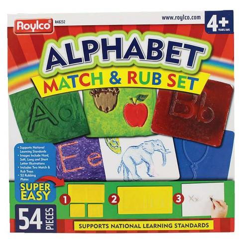 Roylco Alphabet Match and Rub set of 52 - image 1 of 2
