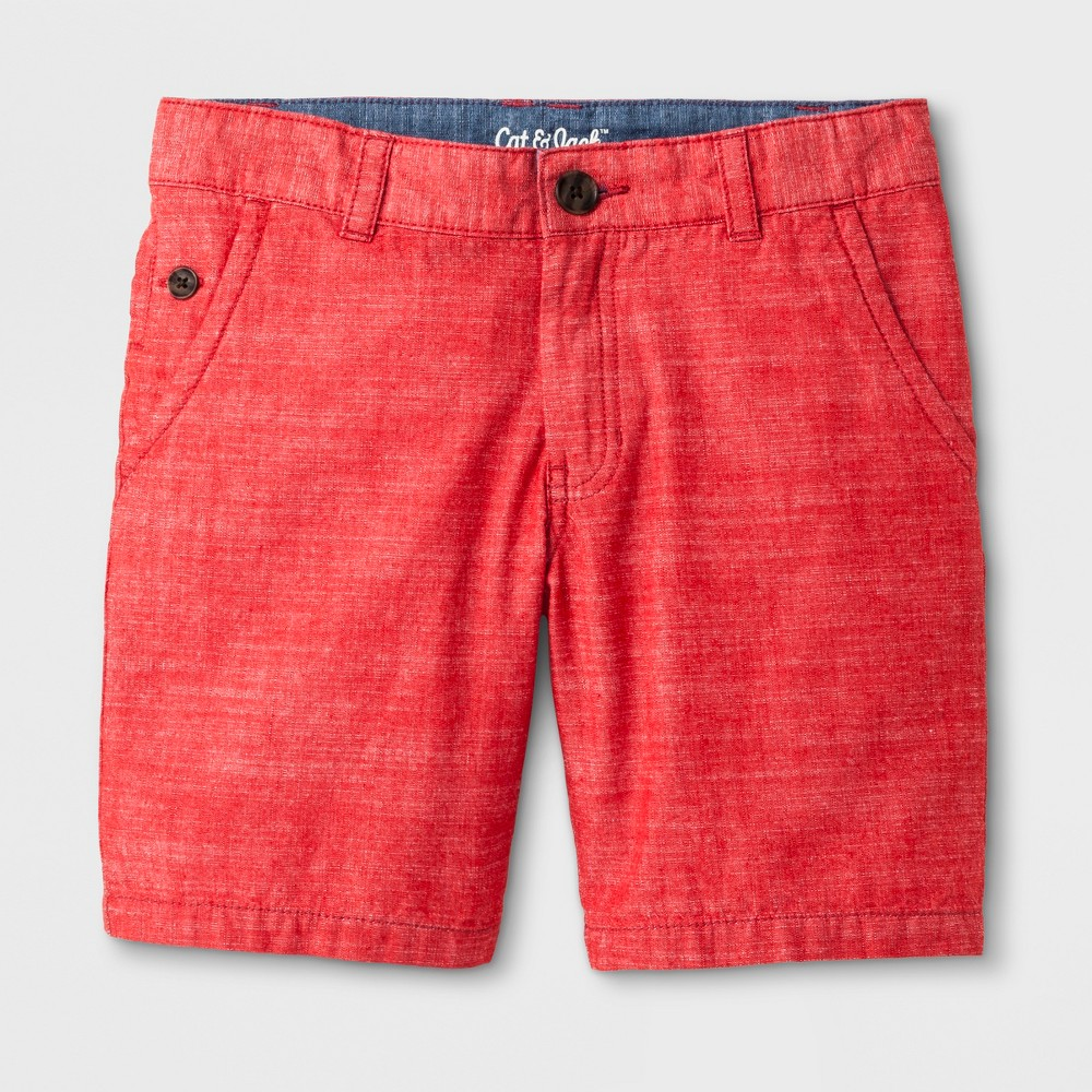 Boys' Chino Shorts - Cat & Jack Red 4